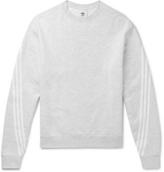 adidas Striped Melange Fleece-Back Cotton-Jersey Sweatshirt