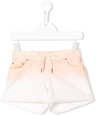 Chloé Kids Dyed Raw-Edge Shorts