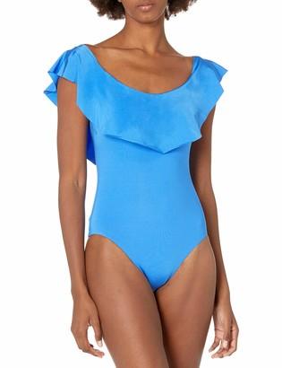 Trina Turk Women's Getaway Solids Off-The-Shoulder Bandeau One Piece Swimsuit
