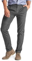 Gap Slim fit plaid pleated pants