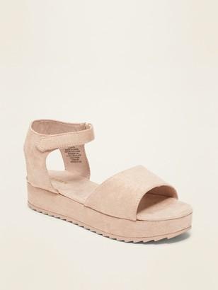 Old Navy Faux-Suede Flatform Sandals for Girls