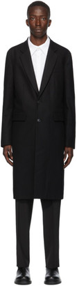 Valentino Black Virgin Wool Long Coat