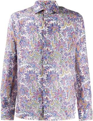 Etro Floral-Pattern Linen Shirt
