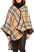 Fraas Rounded Exploded Plaid Woven Ruana