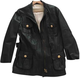 Kiton Blue Leather Jackets