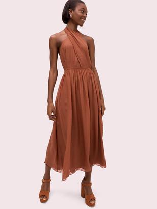 Kate Spade Silk Halter Midi Dress