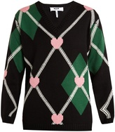 MSGM Argyle-intarsia wool-blend sweater