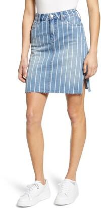Wash Lab Stripe Denim Skirt