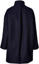 Jil Sander Wool Palau Coat in Navy Melange