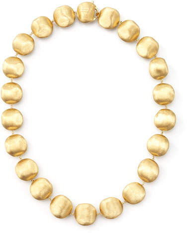 "Marco Bicego Africa Gold Medium Bead Necklace, 17""L"