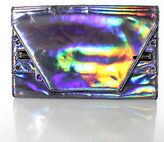Milly Silver Holographic Envelope Clutch Handbag Size Medium