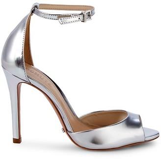 Schutz Saasha Leather Stiletto Sandals