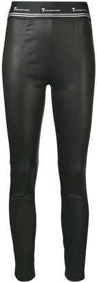 Alexander Wang Leather Logo Leggings