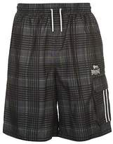 Lonsdale London Men 2 Stripe Check Shorts Pants Trousers Bottoms Lightweight Drawstring