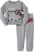 Hello Kitty Active Set (Toddler/Kid) - Heather Gray-4T