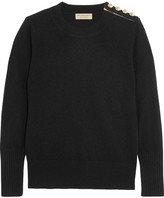 Burberry Embellished Cashmere Sweater - Black