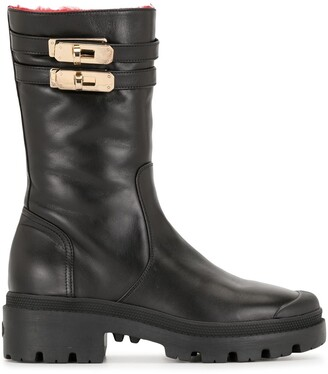 Madison.Maison Shearling-Lined Mid-Calf Boots