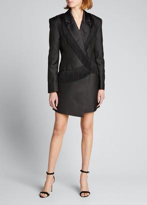 Rotate by Birger Christensen Shannon Blazer Dress with Fringe