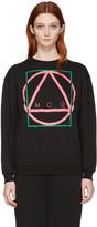 McQ by Alexander McQueen Black Glyph Icon Classic Pullover