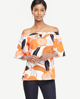Ann Taylor Bold Blooms Off The Shoulder Top