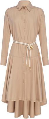 Aje Liberation Herringbone Shirt Dress