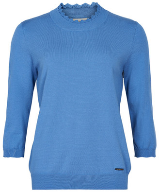 Nümph Angel Blue Nualani Knitted Pullover - blue | viscose | Extra Small (XS) - Blue/Blue