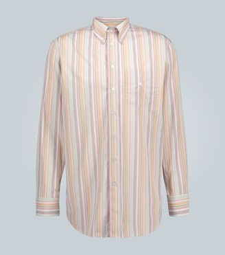 Etro Long-sleeved striped cotton shirt