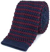 Gibson Burgundy and Navy stripe knitted tie