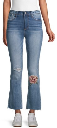 Driftwood Roxy x Mischief Embroidery Kick Flare Jeans