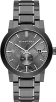 Burberry 42mm Stainless Steel City Bracelet Watch, Black