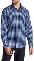 Bugatchi Checkered Shaped Fit Woven Shirt