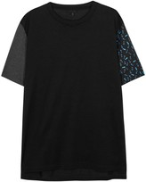 Lanvin Black Contrast-sleeved Cotton T-shirt