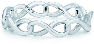 Tiffany & Co. Infinity narrow band ring in sterling silver