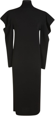 Erika Cavallini Long-Sleeve Turtleneck Long Dress