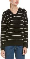 Chaser Women's Striped French Terry Kanga Pocket Long Sleeve Hoodie
