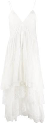Ermanno Scervino georgette flounce dress