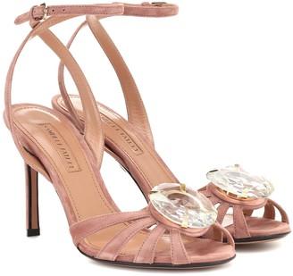 Samuele Failli Ely 90 embellished suede sandals