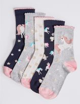 Marks and Spencer 5 Pack of Cotton Rich Socks with FreshfeetTM (12 Months - 10 Years)