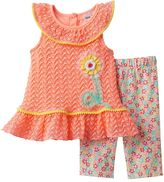 Little Lass Baby Girl Crochet Tank Top & Floral Capris Set