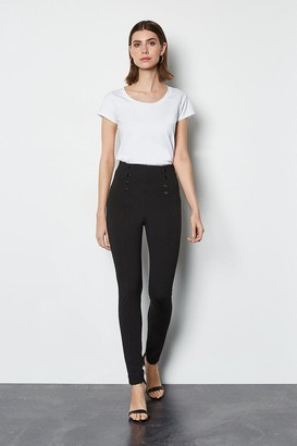 Ponte Snap Front Trouser