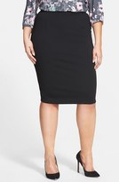 City Chic Plus Size Women's Back Zip Tube Skirt