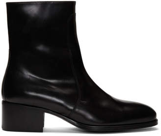 Lemaire Black Leather Chelsea Boots