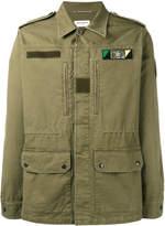 Saint Laurent Sweet Dreams shark patch military jacket