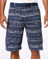 American Rag Men's Geo-Print Cargo Shorts with D-Ring Belt, Only at Macy's