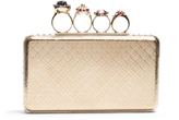 Alexander McQueen Jewel-rings metal knuckle clutch