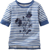 Osh Kosh Oshkosh Half-Sleeve Sparkle Stripe Shirt - Preschool Girls 4-6x