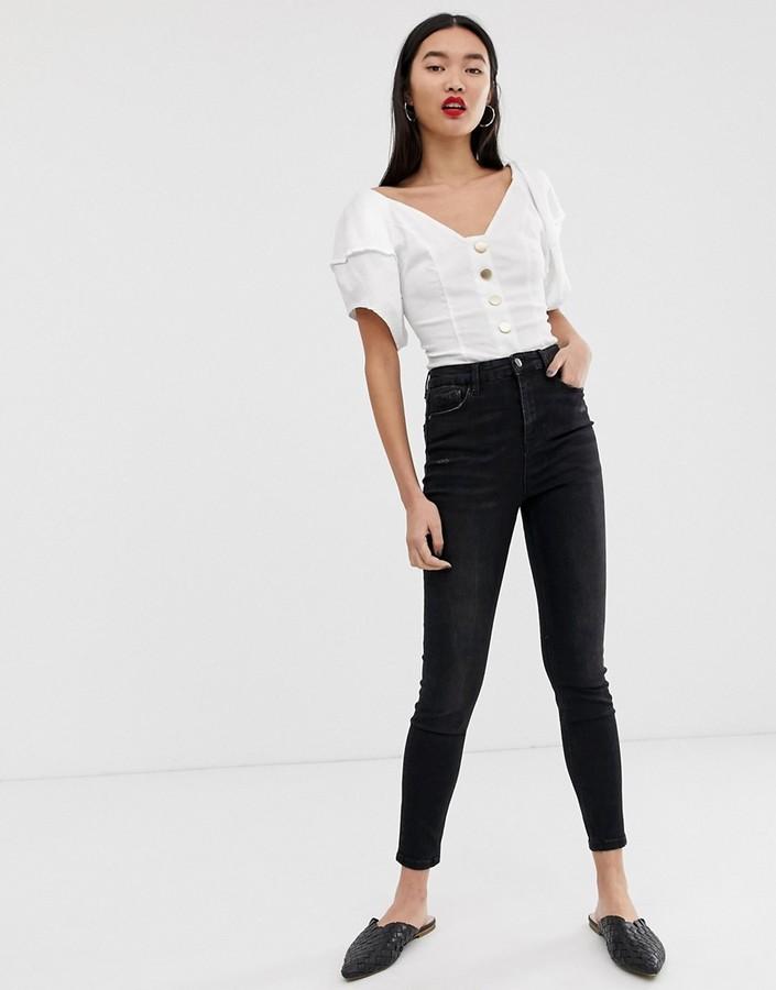 Thumbnail for your product : Stradivarius Super high waist skinny jean