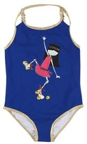 Little Marc Jacobs Girl's Roller Skate Miss Marc One-Piece Swimsuit