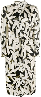 Equipment Foliage Print Shirt Dress