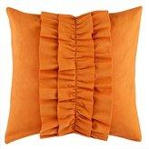 Ruffle Throw Pillow (Dk. Orange)